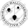 Digi Stamp Text - Happy Halloween - Spinnen