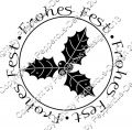 Digi Stamp Text - Frohes Fest - Ilex