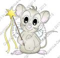 Digi Stamp - Engel Maus - colorierte Version