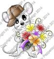Digi Stamp - Blumenbote Maus - colorierte Version
