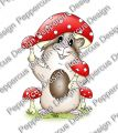 Digi Stamp - Pilz Meerie - colorierte Version