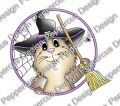 Digi Stamp - Peek a Boo -Halloween Meerie- colorierte Version