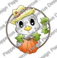 Digi Stamp - Peek a Boo -Herbst Piepmatz- colorierte Version