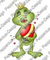 Digi Stamp - Kussmund Frosch - colorierte Version