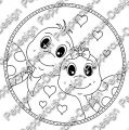 Digi Stamp - PaB - Schildi Paar - s/w Version