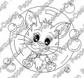 Digi Stamp - PaB - Katze in Seifenblase - s/w Version