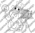 Digi Stamp - Meerie mit Kamera - s/w Version