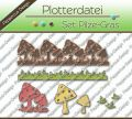 Plotterdatei - Set Pilze - Gras
