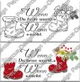 Digi Stamp Text - Wenn Du brav warst.... - in s/w und color