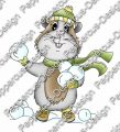 Digi Stamp - Schneeball Meerie - colorierte Version
