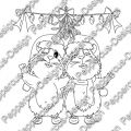 Digi Stamp - Meeries unterm Mistelzweig - s/w Version