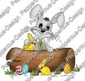 Digi Stamp - Hase hinter Baum - colorierte Version